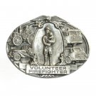 Volunteer Firefighter 3D Bergamot Pewter Belt Buckle