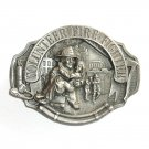 Volunteer Fire Fighter 3D Arroyo Grande Pewter Belt Buckle