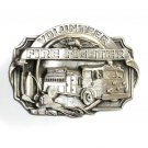 Volunteer Fire Fighter Siskiyou Pewter Belt Buckle