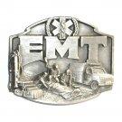 EMT First On The Scene 3D Siskiyou Pewter Belt Buckle
