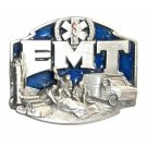 EMT First On The Scene 3D Blue Siskiyou Pewter Belt Buckle