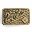 Black Thunder Mine Anacortes Solid Brass Edition # 49 belt buckle