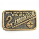Black Thunder Mine Anacortes Solid Brass Edition # 169 belt buckle