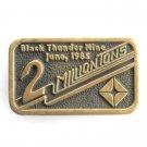 Black Thunder Mine Anacortes Solid Brass Edition # 169 belt buckle