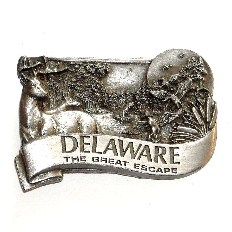Delaware The Great Escape 3D Bergamot Pewter American Belt Buckle