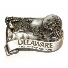 Delaware The Great Escape 3D Bergamot Pewter American Belt Buckle