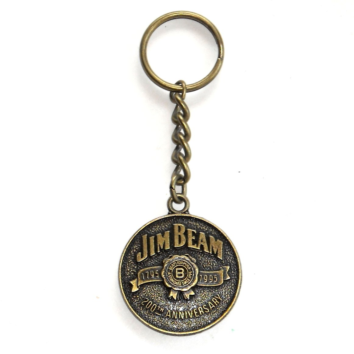 Jim Beam Kentucky Bourbon 200th Anniversary Solid Brass Keychain
