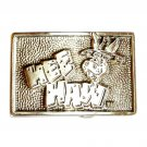 HEE HAW Country Music TV Show Vintage Pewter Belt Buckle