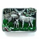 Wapiti Elk Vintage Siskiyou Pewter 3D Belt Buckle
