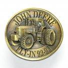 John Deere Vintage Brass Bergamot Belt Buckle