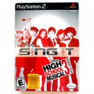 Disney Sing It High School Musical 3 PS2 game with Microphone