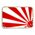Rising Sun Flag Silver Color Metal Belt Buckle