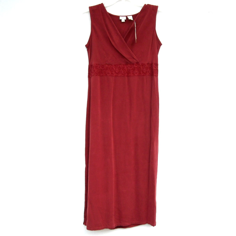 J Jill Petite Misses Sleeveless Wine Red Dress size SP