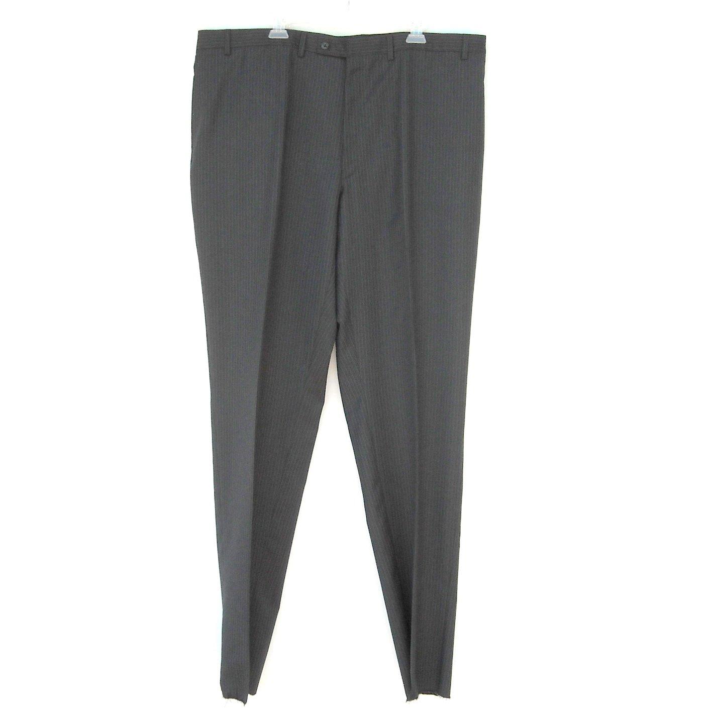 Alfani Charcoal Stripes Unhemmed Pants Size 44 NWT