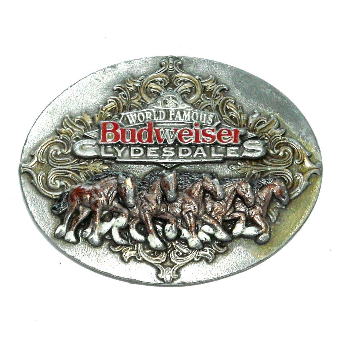 Budweiser Clydesdales 3D Anheuser Busch Bergamot US Belt Buckle