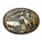 Rodeo Cowboy Tony Lama Limited Edition Solid Brass Belt Buckle