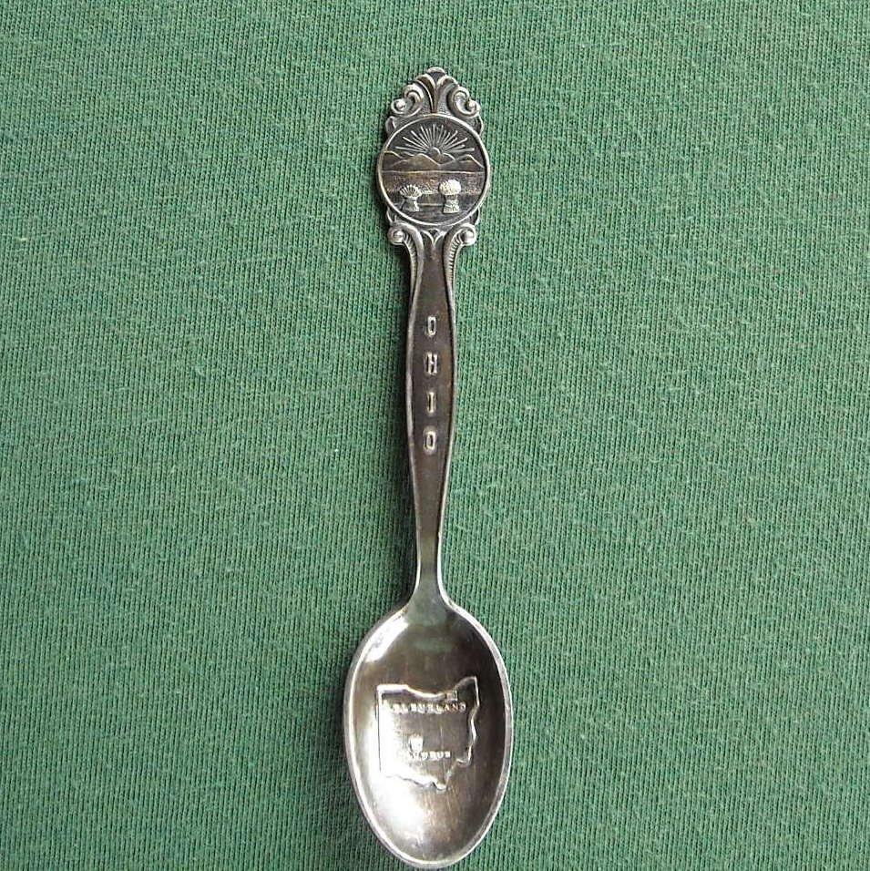 Ohio Miniature Souvenir Spoon EPNS Marthinsen