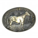 Quarter Horse Tony Lama Solid Brass Belt Buckle