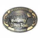 Tony Lama Logo Bicentennial Limited Edition Solid Brass Belt Buckle