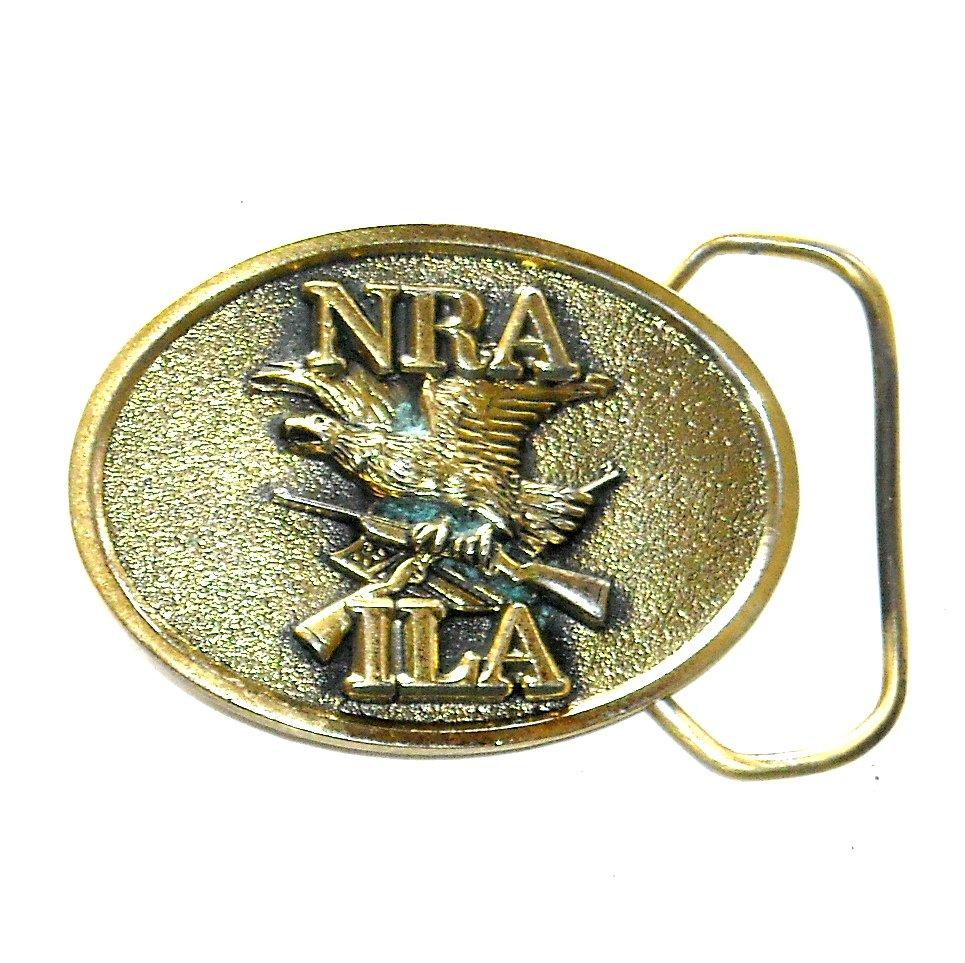 ILA NRA Great American Brass Small Belt Buckle