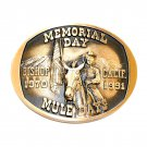 Mule Days Bishop California 1991 Bronze 3D Belt Buckle