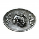 Rodeo Cowboy Bucking Horse 3D 1990 Raintree Belt Buckle