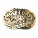 Mule Days Bishop California 1993 Bronze 3D No 1514 Belt Buckle