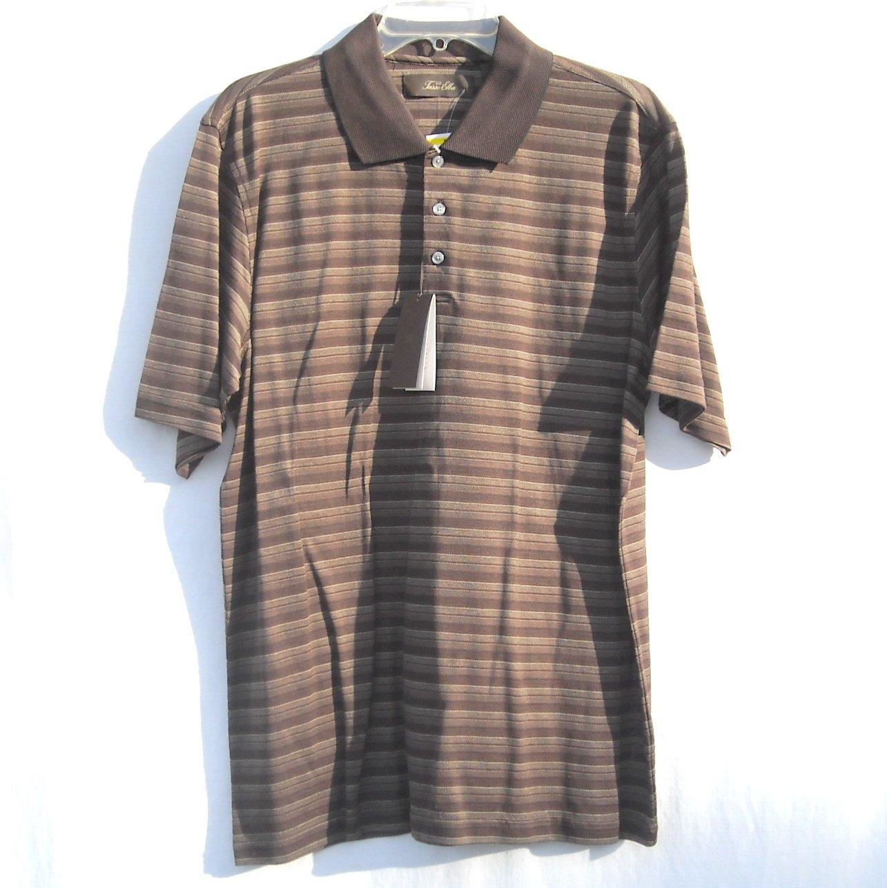 Tasso Elba Mens Short Sleeve 100% Cotton Striped Shirt Size M