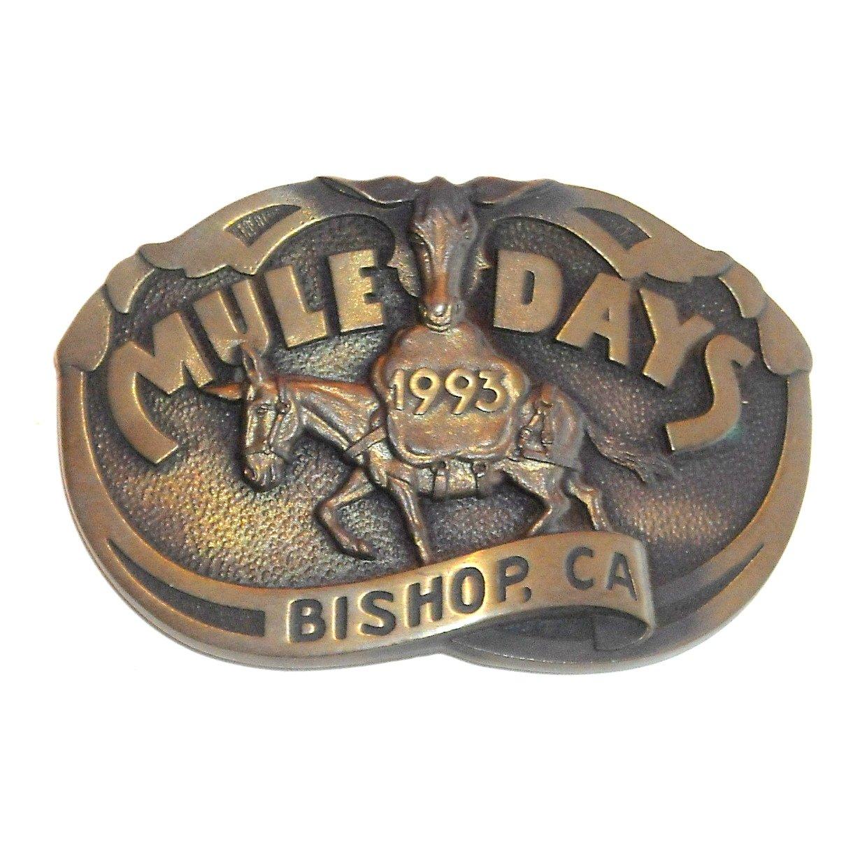 Mule Days 1993 Bishop California Bronze 3D Limited Edition Belt Buckle