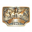 Mule Days Bishop California 1997 Bronze 3D No 2350 Belt Buckle