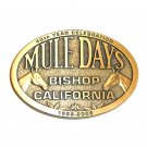 Mule Days Bishop California 2009 Solid Bronze Belt Buckle