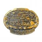50th State Aloha Islands Of Hawaii Vintage Brass Belt Buckle