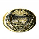 Oregon State Seal Heritage Mint Solid Brass Vintage Belt Buckle