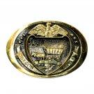 Oregon State Seal Heritage Mint Solid Brass Vintage Belt Buckle