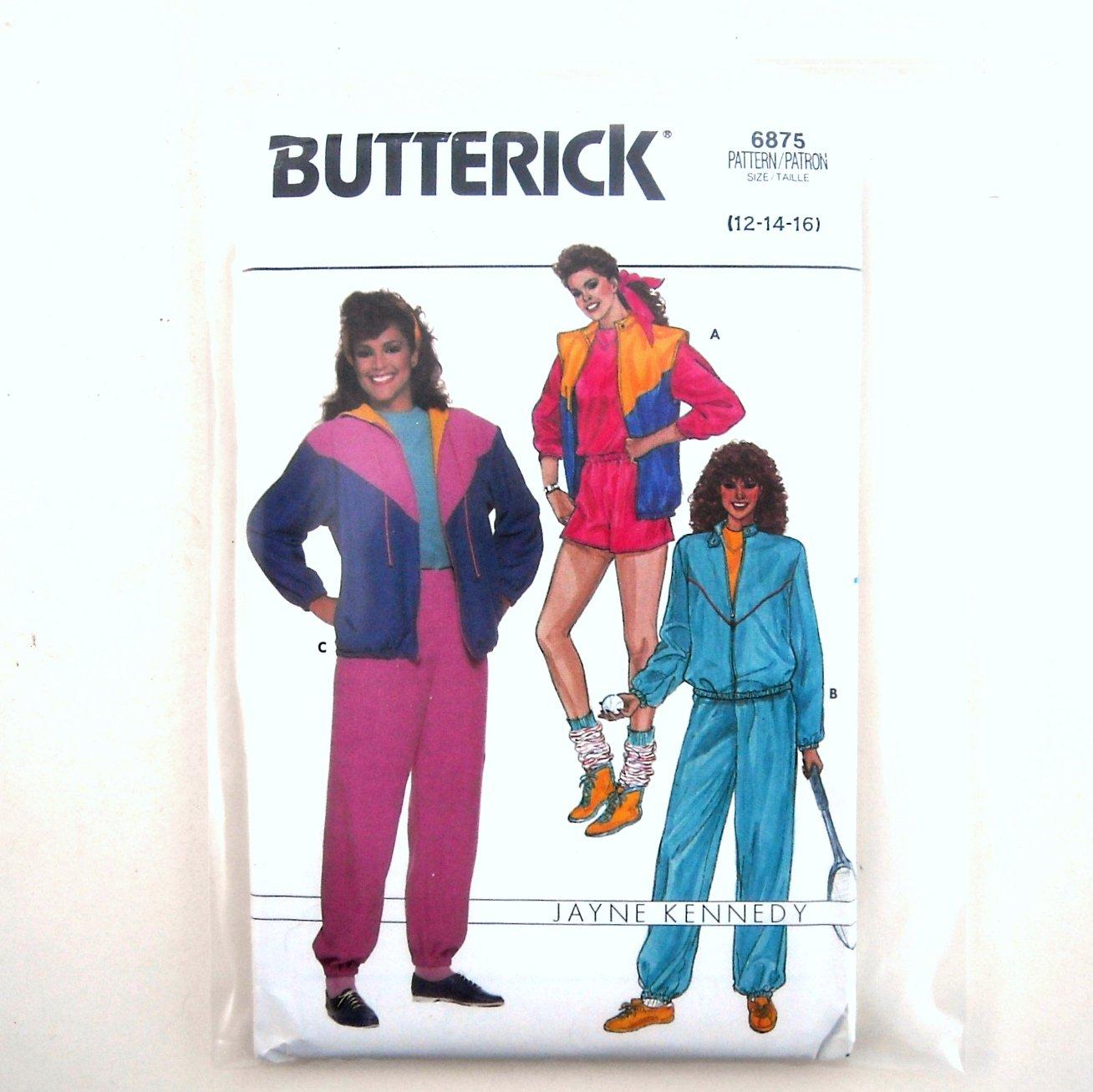 Jacket Vest Shorts Pants Top Misses Size 12 - 16 Vintage Butterick Sewing Pattern 6875
