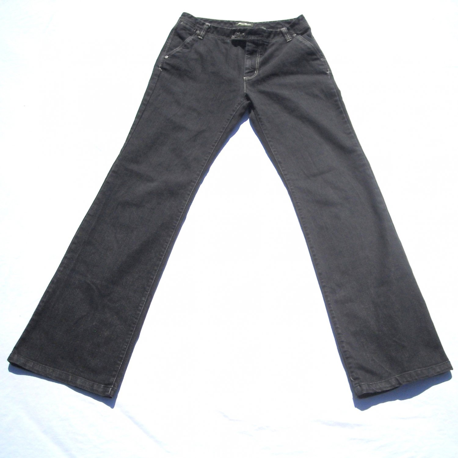 Eddie Bauer Misses Specially Dyed Black Jeans Size Tall 6