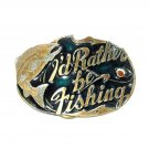Rather Be Fishing Trout Fly Great American Belt Buckle
