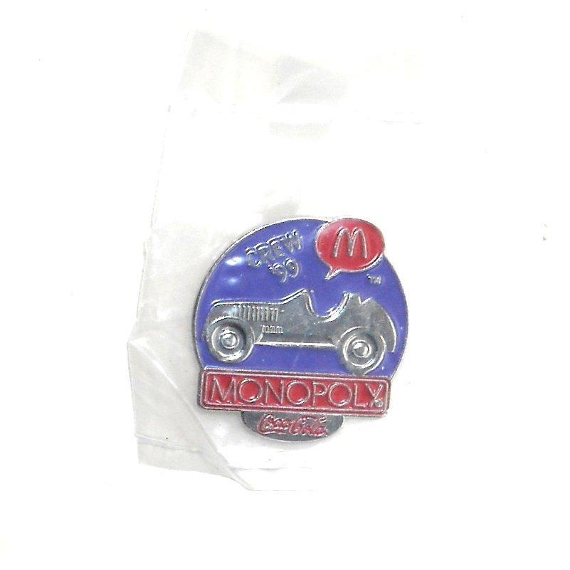 Coca Cola McDonalds Monopoly Car 1999 Crew Tie Tac Pin