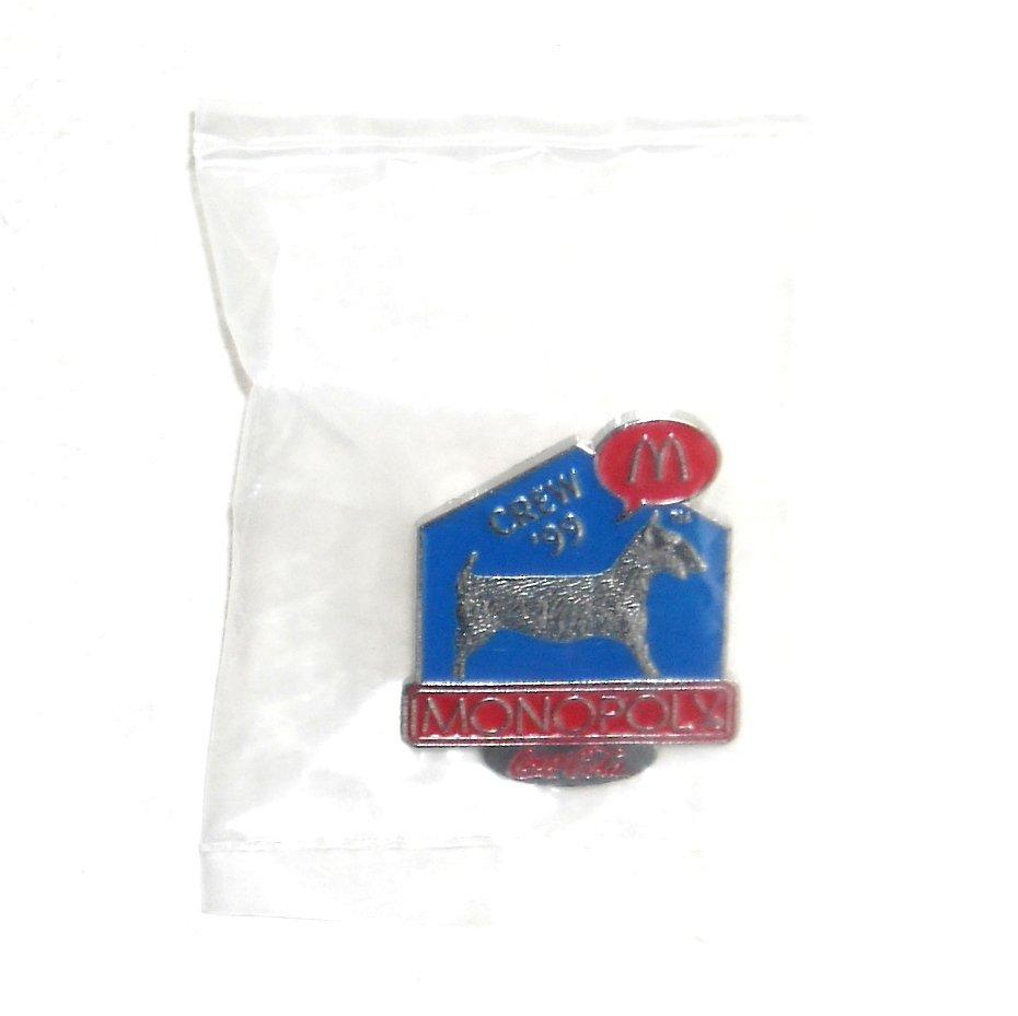 McDonalds Coca Cola Monopoly Dog 1999 Crew Tie Tac Pin