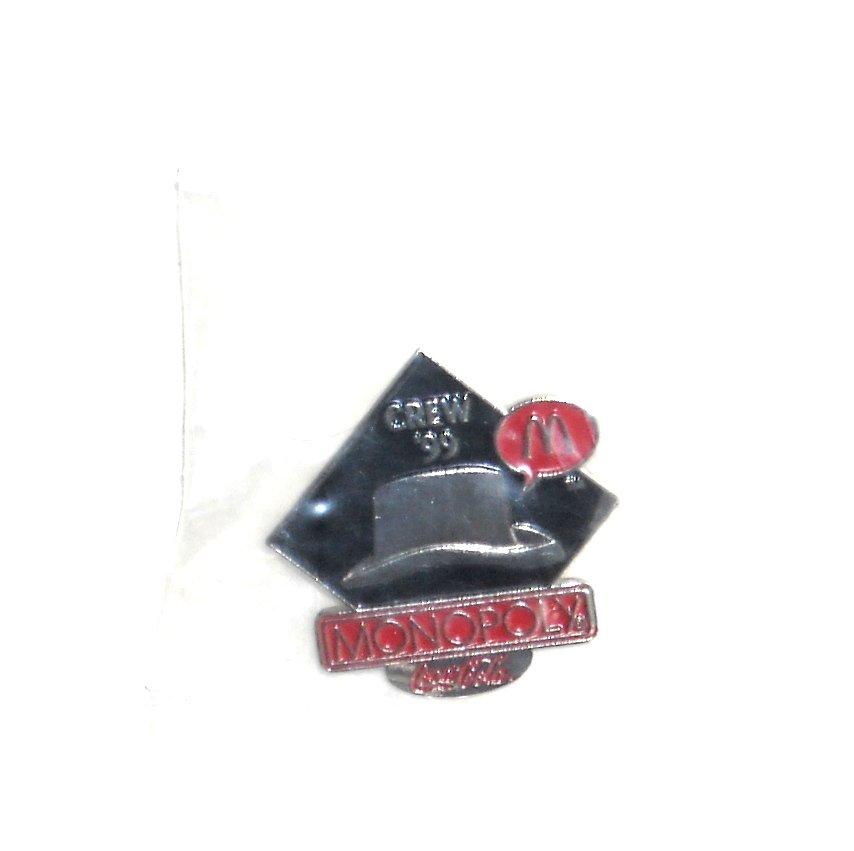 Coca Cola McDonalds Monopoly Hat 1999 Crew Tie Tac Pin