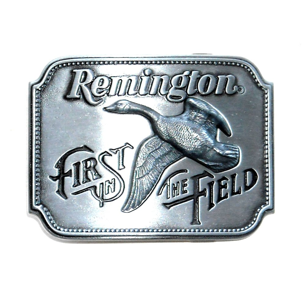 Remington Arms First In The Field Canada Goose Belt Buckle