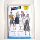 Misses Culottes Pantskirt Burda Sewing Pattern 5158