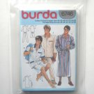Mens Pajamas Robe Burda Sewing Pattern 6746