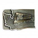 Grandview Washington Lions Club Bergamot Pewter Belt Buckle