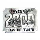 Texas Fire Fighter 2000 Bergamot Pewter Belt Buckle