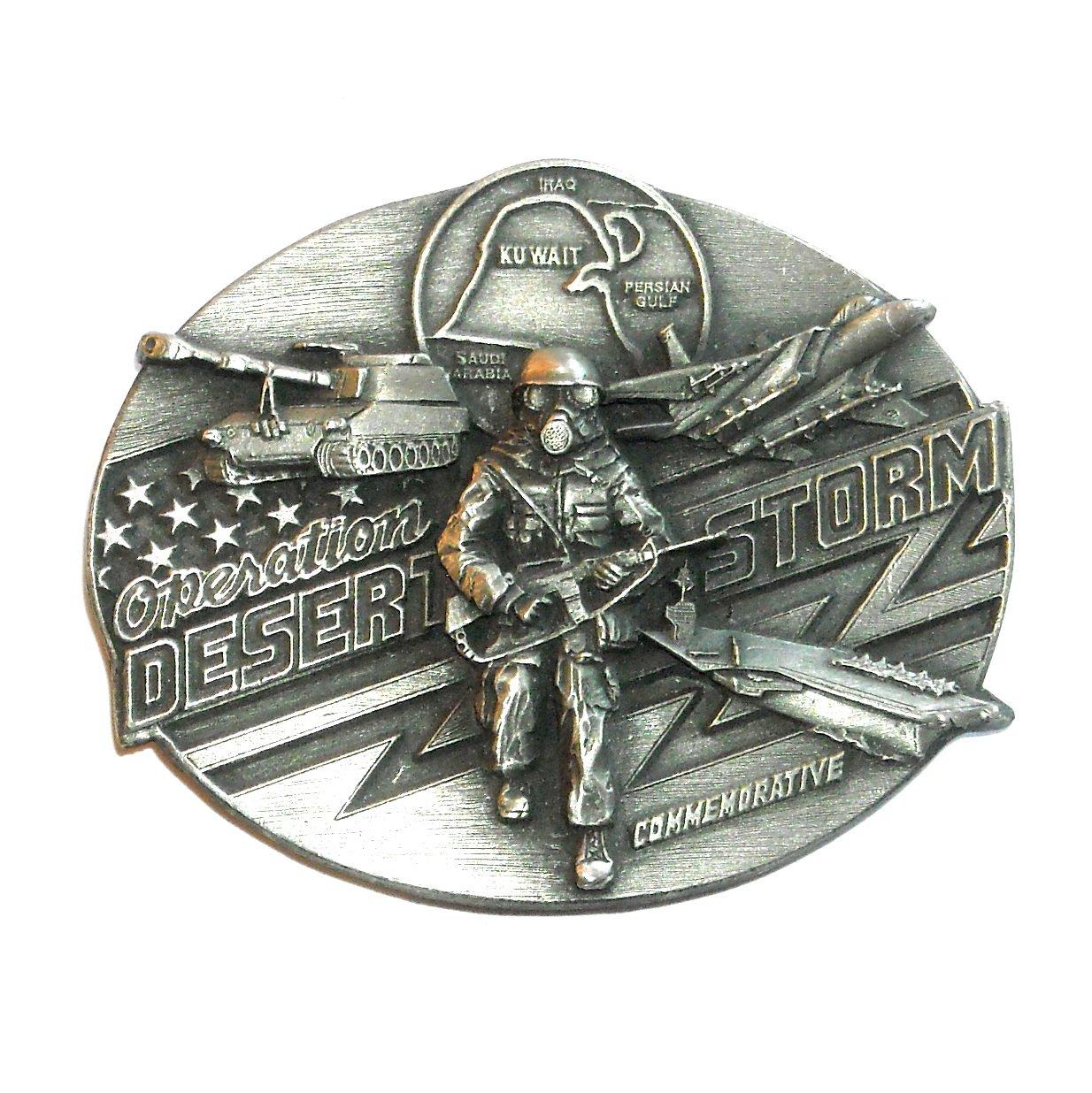 Operation Desert Storm Bergamot Pewter Belt Buckle