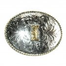 Letter Initial I Montana Silversmiths Western Belt Buckle