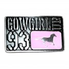 Cowgirl Up 93 Montana Silversmiths Western Belt Buckle