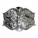 Silver Color Montana Silversmiths Western Belt Buckle