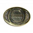 Ryder Solid Brass Vintage Belt Buckle
